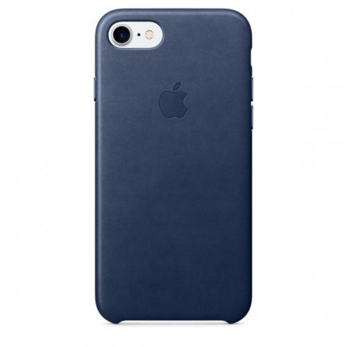 Чехол для iPhone Apple iPhone 7/8 Leather Case Midnight Blue (MMY32ZM/A)