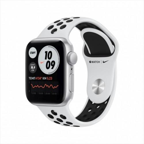 Смарт-часы Apple Watch Nike SE, 40 мм, корпус из алюминия серебристого цвета, спортивный ремешок Nike