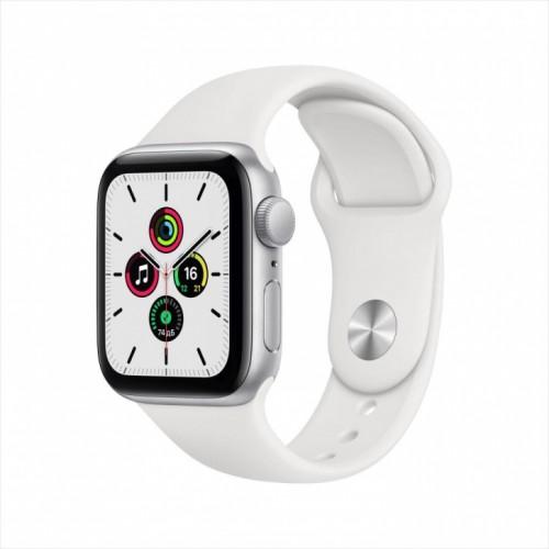 Смарт-часы Apple Watch SE, 40 мм, корпус из алюминия серебристого цвета, спортивный ремешок