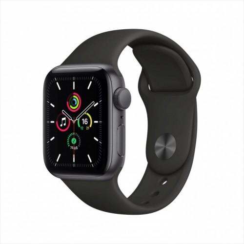 Смарт-часы Apple Watch SE, 40 мм, корпус из алюминия цвета «серый космос», спортивный ремешок