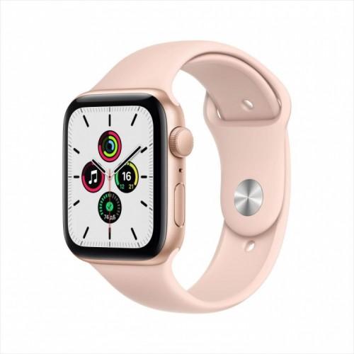 Смарт-часы Apple Watch SE, 44 мм, корпус из алюминия золотого цвета, спортивный ремешок
