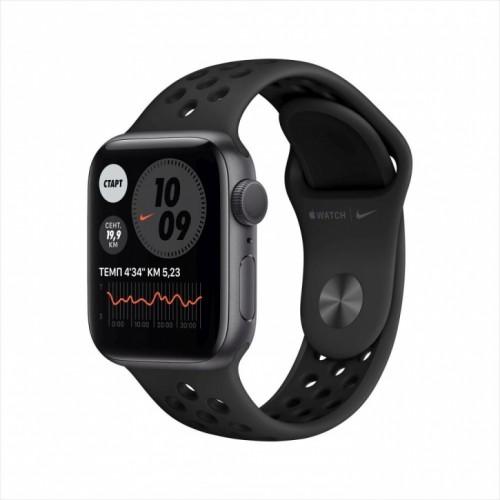 Смарт-часы Apple Watch Nike Series 6, 40 мм, корпус из алюминия цвета «серый космос», спортивный ремешок Nike