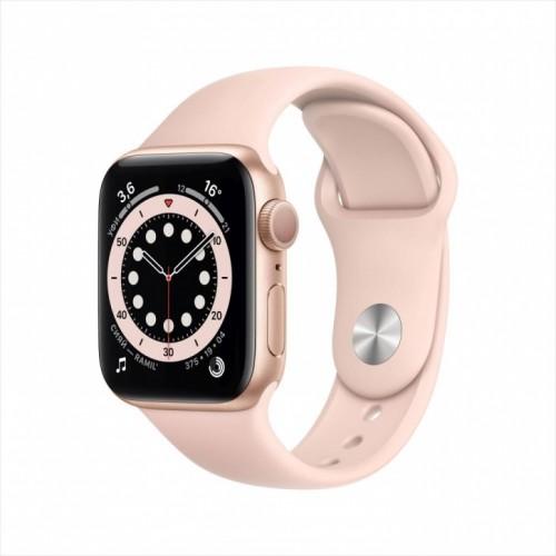 Смарт-часы Apple Watch Series 6, 40 мм, корпус из алюминия золотого цвета, спортивный ремешок
