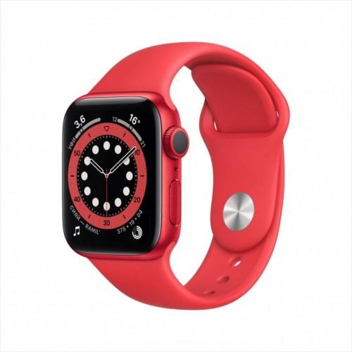 Смарт-часы Apple Watch Series 6, 40 мм, корпус из алюминия цвета (PRODUCT)RED, спортивный ремешок