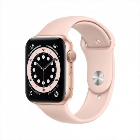 Смарт-часы Apple Watch Series 6, 44 мм, корпус из алюминия золотого цвета, спортивный ремешок