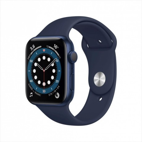 Смарт-часы Apple Watch Series 6, 44 мм, корпус из алюминия синего цвета, спортивный ремешок