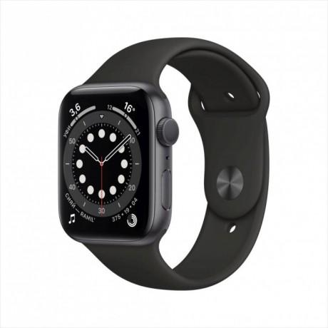 Apple Watch Series 6, 44 мм, корпус из алюминия цвета «серый космос», спортивный ремешок