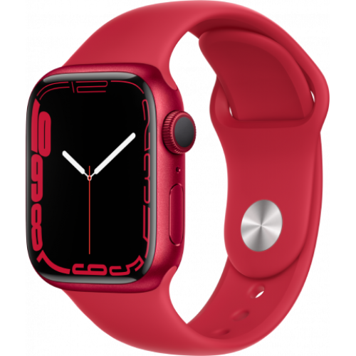 Смарт-часы Apple Watch Series 7 41 мм корпус из алюминия цвета PRODUCT RED спортивный ремешок
