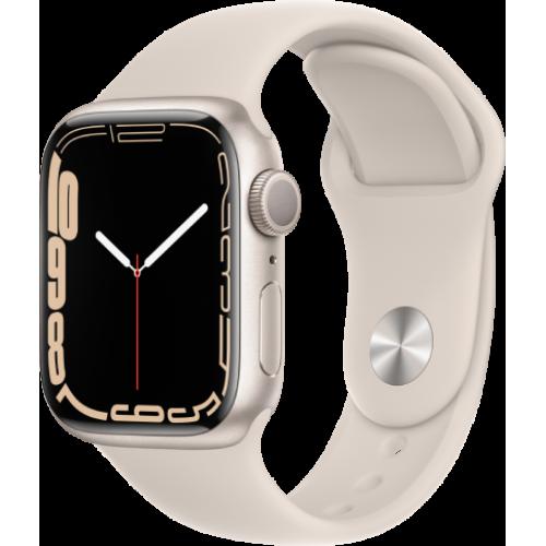 Смарт-часы Apple Watch Series 7 41 мм корпус из алюминия цвета сияющая звезда спортивный ремешок
