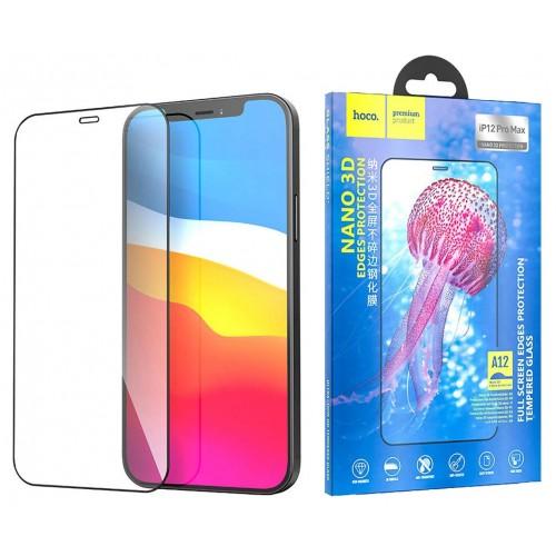 Защитное стекло для iPhone 12 Pro Max Hoco Nano 3D закаленное