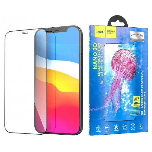 Защитное стекло для iPhone 12/12 Pro Hoco Nano 3D закаленное