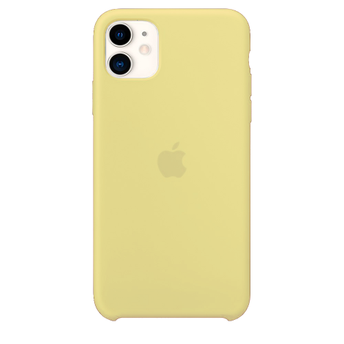Силиконовый чехол для Apple iPhone 11 Silicone Case Simple (сочный желтый)