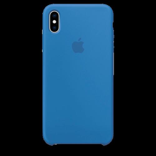 Силиконовый чехол для Apple iPhone X Silicone Case (джинсово-синий)