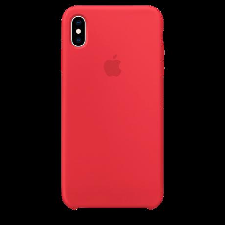 Силиконовый чехол для Apple iPhone X Silicone Case (красный)