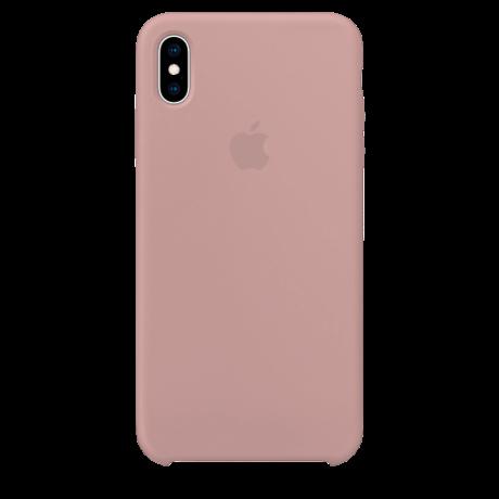 Силиконовый чехол для Apple iPhone X Silicone Case (розовый песок)