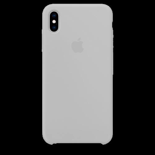 Силиконовый чехол для Apple iPhone X Silicone Case (белый)