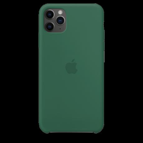 Силиконовый чехол для Apple iPhone 11 Pro Max Silicone Case (темно-зеленый)