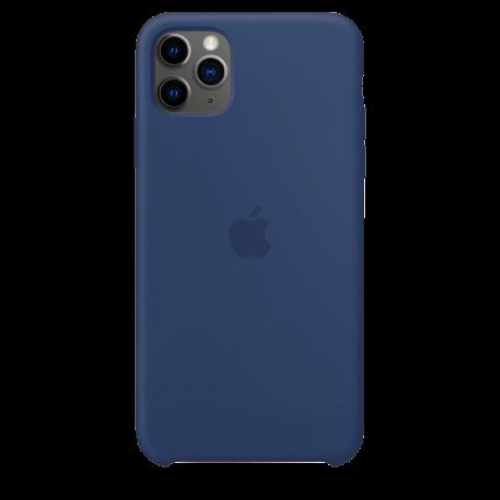 Силиконовый чехол для Apple iPhone 11 Pro Max Silicone Case (льняной синий)