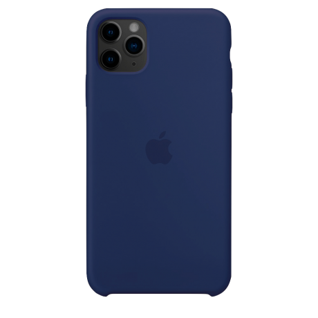Силиконовый чехол для Apple iPhone 11 Pro Max Silicone Case (темно-синий)