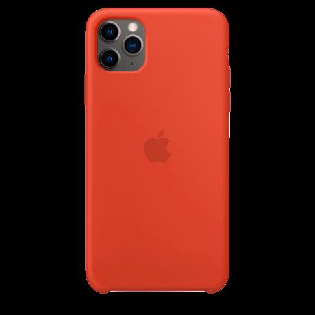 Силиконовый чехол для Apple iPhone 11 Pro Max Silicone Case (оранжевый)
