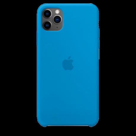 Силиконовый чехол для Apple iPhone 11 Pro Max Silicone Case (синий прибой)