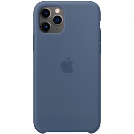 Силиконовый чехол для Apple iPhone 11 Pro Silicone Case (голубая Аляска)