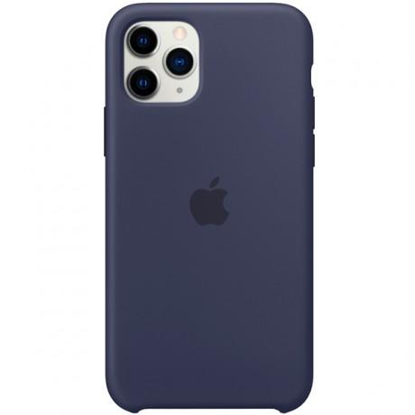 Силиконовый чехол для Apple iPhone 11 Pro Silicone Case (темно-синий)