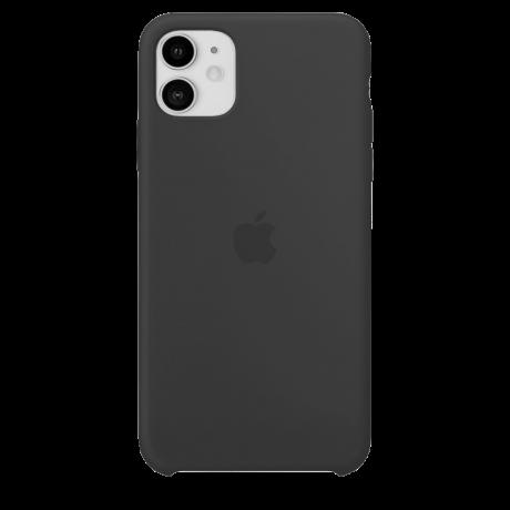 Силиконовый чехол для Apple iPhone 11 Silicone Case (черный)