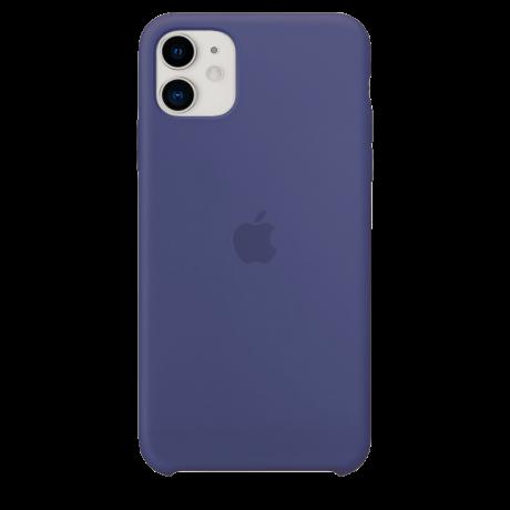 Силиконовый чехол для Apple iPhone 11 Silicone Case (темно-синий)