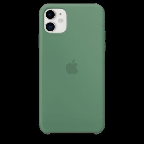 Силиконовый чехол для Apple iPhone 11 Silicone Case (зеленая сосна)
