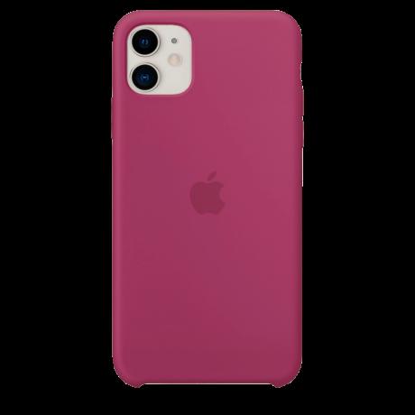 Силиконовый чехол для Apple iPhone 11 Silicone Case (гранатовый)