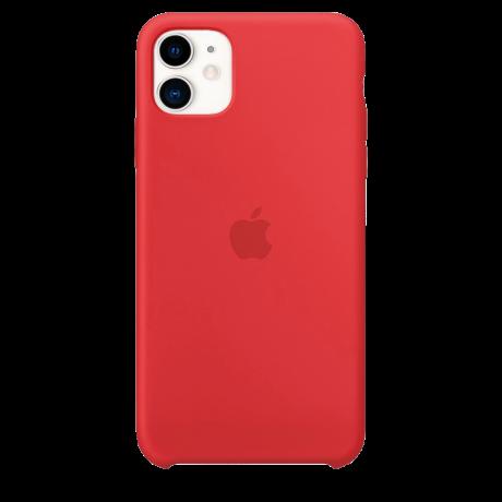 Силиконовый чехол для Apple iPhone 11 Silicone Case (красный)