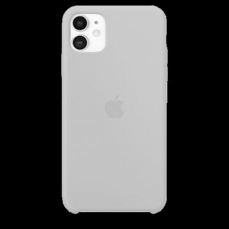 Силиконовый чехол для Apple iPhone 11 Silicone Case (белый)