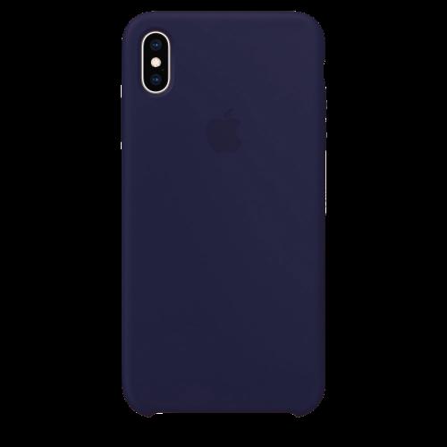 Силиконовый чехол для Apple iPhone X/XS Silicone Case Simple (темно-синий)
