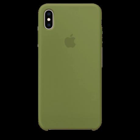 Силиконовый чехол для Apple iPhone X/XS Silicone Case Simple (темно-оливковый)