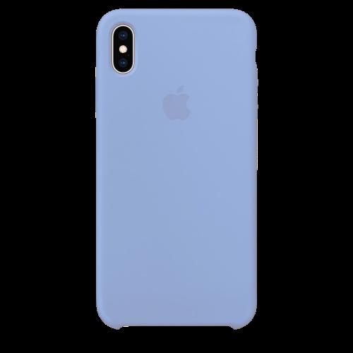 Силиконовый чехол для Apple iPhone X/XS Silicone Case Simple (сиреневый)
