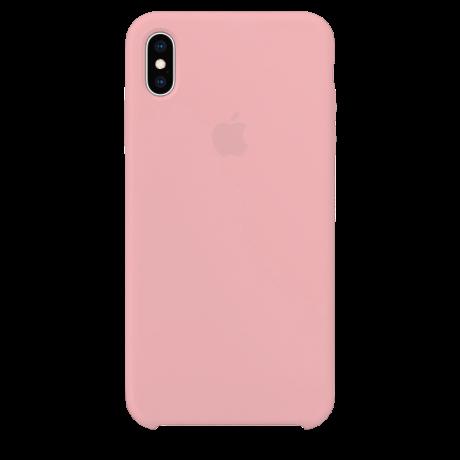 Силиконовый чехол для Apple iPhone X/XS Silicone Case Simple (розовый)
