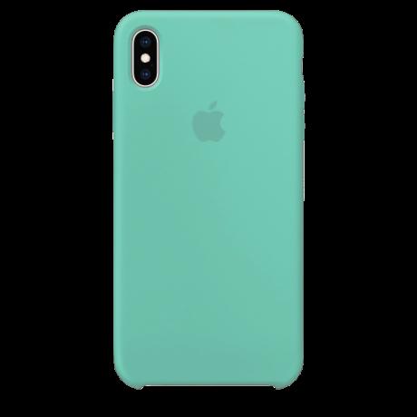 Силиконовый чехол для Apple iPhone X/XS Silicone Case Simple (бирюзовый)