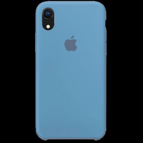 Силиконовый чехол для Apple iPhone XR Silicone Case (васильковый)