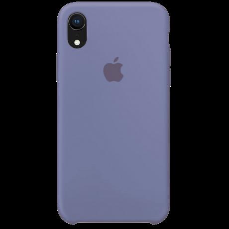 Силиконовый чехол для Apple iPhone XR Silicone Case (лавандово-серый)