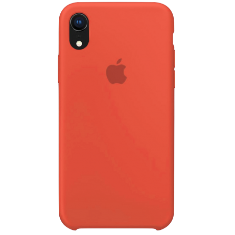 Силиконовый чехол для Apple iPhone XR Silicone Case (нектарин)