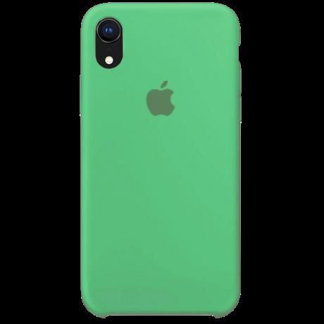 Силиконовый чехол для Apple iPhone XR Silicone Case (мятный)