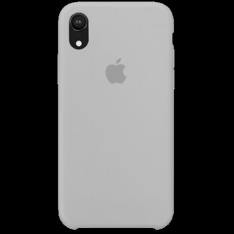 Силиконовый чехол для Apple iPhone XR Silicone Case (белый)