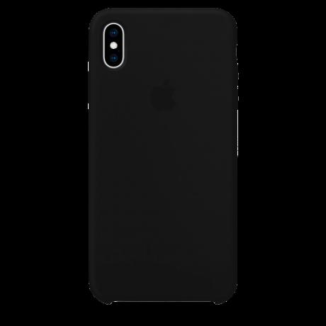 Силиконовый чехол для Apple iPhone XS Max Silicone Case (черный)