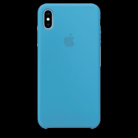 Силиконовый чехол для Apple iPhone XS Max Silicone Case (васильковый)