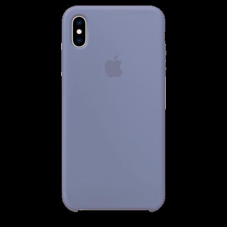 Силиконовый чехол для Apple iPhone XS Max Silicone Case (лавандово-серый)