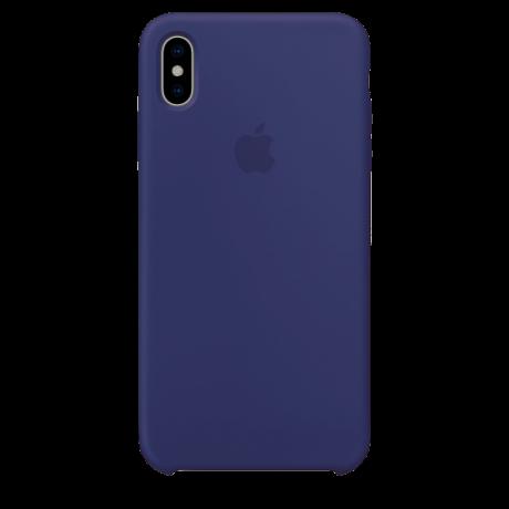 Силиконовый чехол для Apple iPhone XS Max Silicone Case (темно-синий)