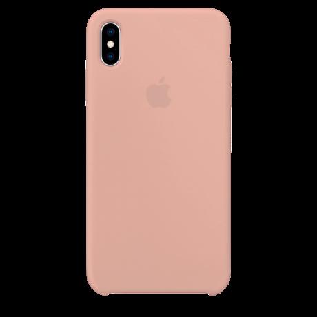 Силиконовый чехол для Apple iPhone XS Max Silicone Case (розовый песок)