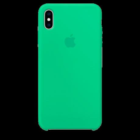 Силиконовый чехол для Apple iPhone XS Max Silicone Case (мятный)