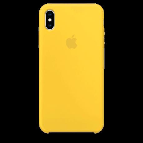 Силиконовый чехол для Apple iPhone XS Silicone Case (канареечно-желтый)